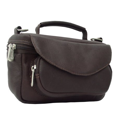 (Piel Leather Deluxe Carry-All Camera Bag, Chocolate, One Size)