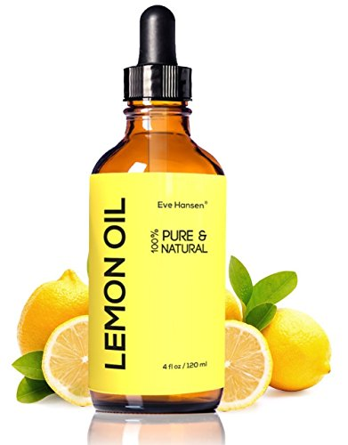 LEMON ESSENTIAL OIL 4 Ounce - Therapeutic Grade Cold Pressed Lemon Oil - Detox And Help Boost Fat Burning Naturally - Pure Lemon Oil For Wood, Natural Disinfectant And Natural (Lemon Oil Cooking)