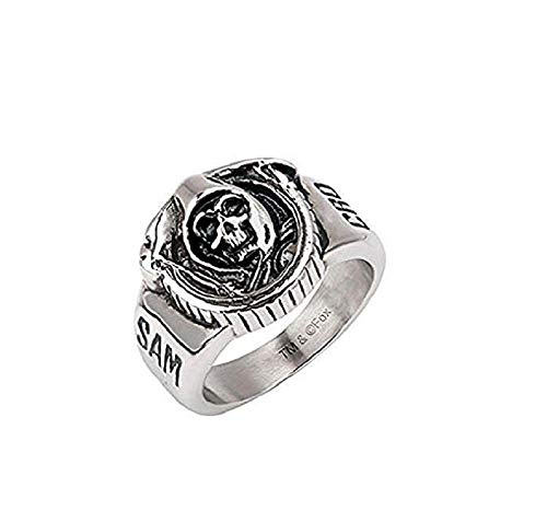 Sons of Anarchy Grim Reaper Skull Stainless Steel Ring ()