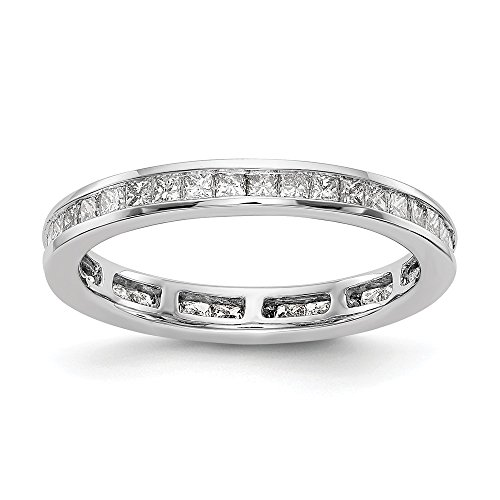 14k White Gold SI2-I1(H/I) Diamond Eternity Wedding Band Ring 2.002 cttw