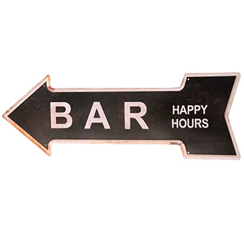 HANTAJANSS Metal Signs Retro Arrow Embossed Bar Signs for Pub Decoration ()