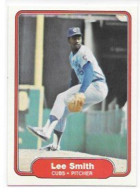 Lee Smith 1982 Fleer Chicago Cubs Rookie Card - Rookie Smith Card