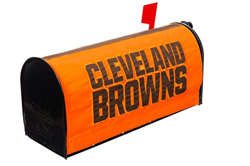 Cover Team Mailbox (Team Sports America NFL Cleveland Browns 2MBC3807Cleveland Browns, Mailbox Cover, Brown)