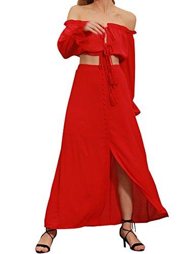 Glamaker Womens Summer Shoulder Outfits
