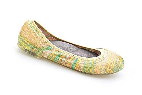 Pastel Shoes Ballet (JA VIE Walking Shoes For Women Ballet Flats Style For Every Day Wear Driving Walking, Pastel Stripe SZ 40)