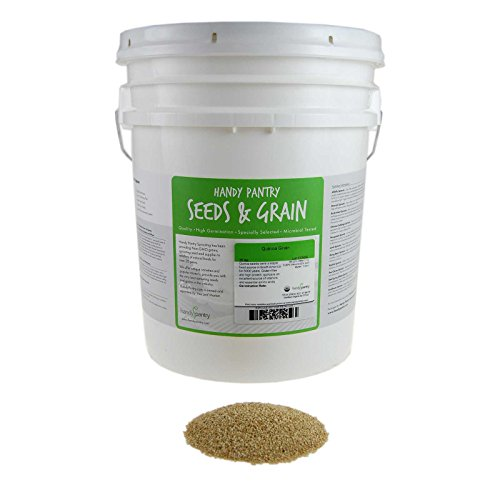 Certified Organic Quinoa Grain Sprouting Seeds - 35 Lbs - Grind for Quinoa Flour, Cereal, Emergency Food Storage More by Handy Pantry