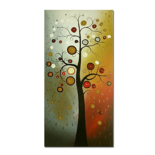 Wieco Art Life Tree Large Vertical Wall Art Modern Abstract Flowers 100% Hand Painted Floral Oil Paintings on Canvas Wall Art Work Ready to Hang for Dining Room Kitchen Home Decor XL (Art Print Canvas Deco)