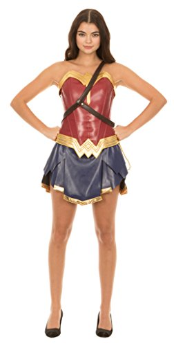 Dc Comic Costumes (Dc Comics Wonder Woman Warrior Corset and Skirt Costume Set (Adult Medium))