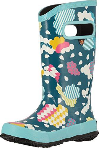 Bogs Clouds Rain Boot - Little Girls' Aqua Multi, -
