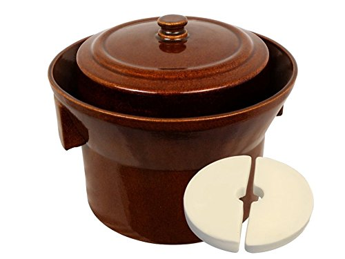 5 L (1.3 Gal) K&K Keramik German Made Fermenting Crock Pot Kerazo FORM_1 by Kerazo