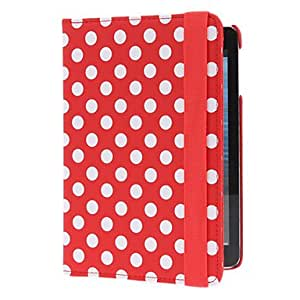 Purchase 360 Degree Rotatable PU Full Body Case with Stand for iPad mini (Assorted Colors) , Red