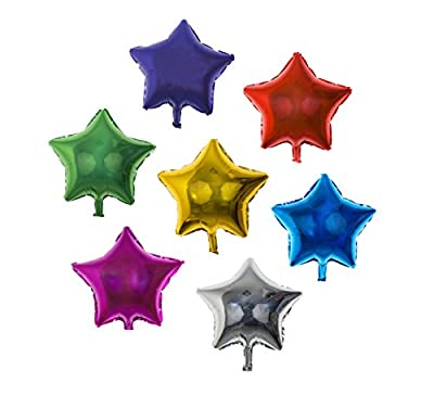 Star Balloon Happy Birthday Party - Set of 14 Pack Mylar Foil 18 Inch Helium Reusable Ballons For Congratulation Decoration Anniversary Festival Graduation Bouquet Gift Idea Engagement Celebration