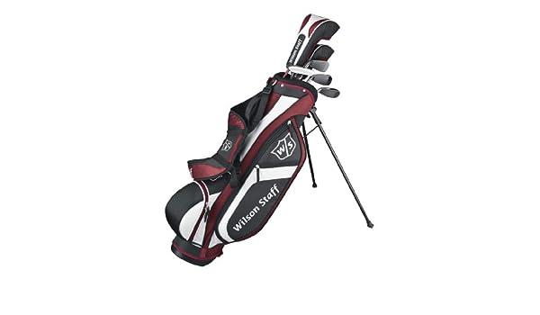 Wilson Staff, Medio set Junior, 5 palos de golf con bolsa de ...