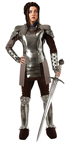 UHC Women's Snow White Armor Huntsman Medieval Knight Outfit Halloween Costume, STD (Up to 12)