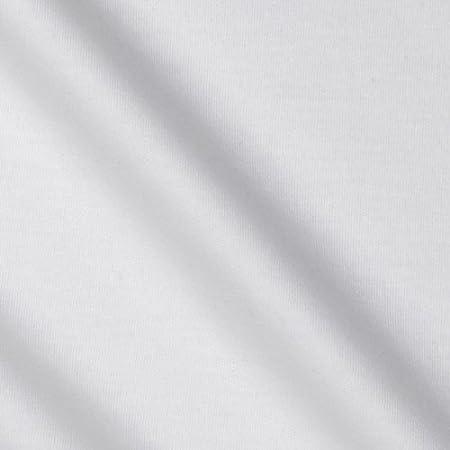 Telio algodón orgánico tela de tejido entrelazado, color blanco por el patio: Amazon.es: Hogar