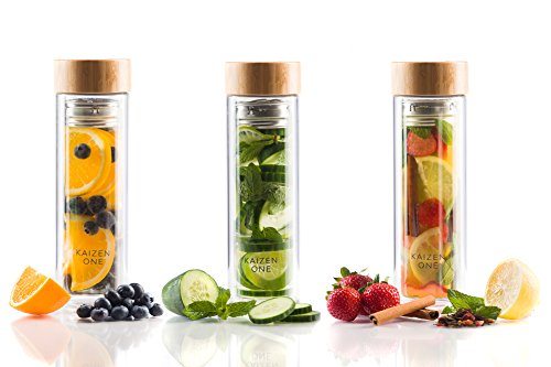 VIVA Bottle - Double Wall Glass Tea & Fruit Infusion Bottle