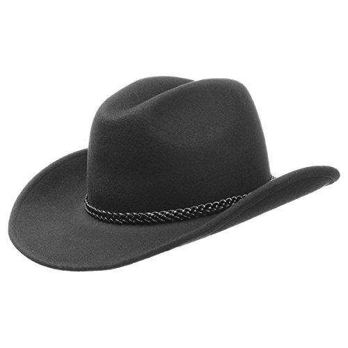 Cowboyhut Texashut Wollfilzhut (M/56-57 - schwarz)