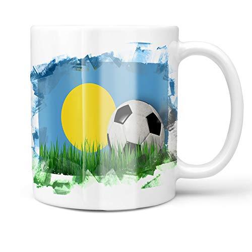 Neonblond 11oz Coffee Mug Soccer Team Flag Palau with your Custom Name