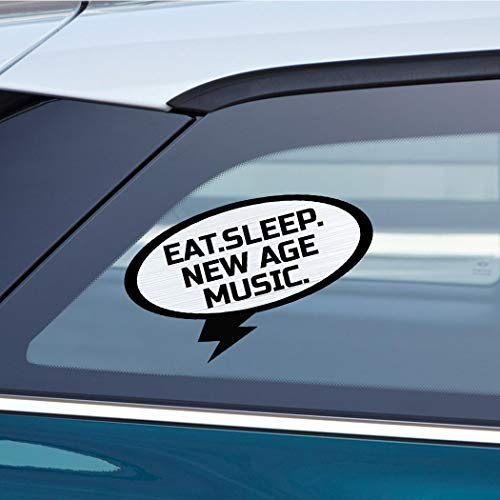 EAT SLEEP NEW AGE MUSIC Music Musician Car Laptop Wall Sticker Decal - 3.5'by6'(Small) or 5'by9'(Large)
