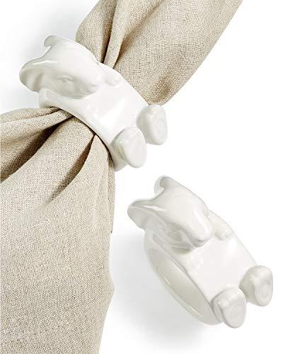 gibson overseas inc. Martha Stewart Collection Set of 2 Figural Bunny Napkin ()