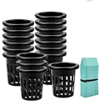 Zilong 80 Pack Garden Net Cups Pot 2 Inch Plastic Slotted Mesh Plant Pots Round Wide Lip Heavy Duty Hydroponics Basket…