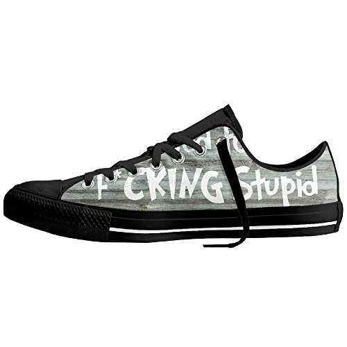 I Used To Be Fucking Stupid Low-Cut Canvas Shoes Unisex Sneaker-All Season Casual Trainers For Men And Women ColourName (Stupid Easy Halloween Costumes)