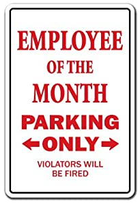 Amazon.com: Employee Of The Month Novelty Sign | Indoor