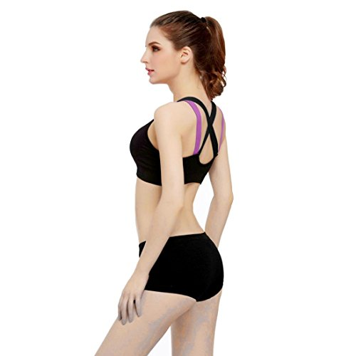 Longra Ropa ♥♥ Deporte De Yoga De Entrenamiento De Yoga De Bra Correr De Padres Remodelados De Chaleco negro