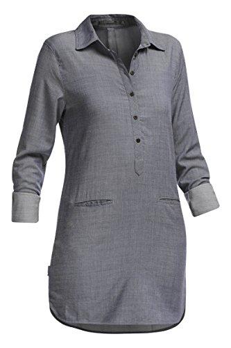 Icebreaker Women's Kala Dress, Fathom Heather/Jet Heather, -