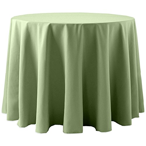 Ultimate Textile Cotton-feel 60-Inch Round Tablecloth Sage Green