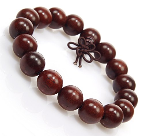 Antiquity Sian Art Buddhist Wrist Mala - Fine Grain Wood Asian Meditation Prayer Beads