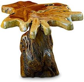 2020 Kinaree wortelhout bijzettafel ALOR Setar II - 40 cm bijzettafel van massief teak in rustieke uitstraling, het tafelblad is gemaakt van een teakboom doorsnede vervaardigd.  h8LzhSh
