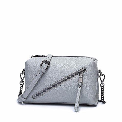 2018 nueva cadena bolsa de mensajero, elegante hombro Bolso pequeño 22 * 13 * 9cm,Claret Light Grey