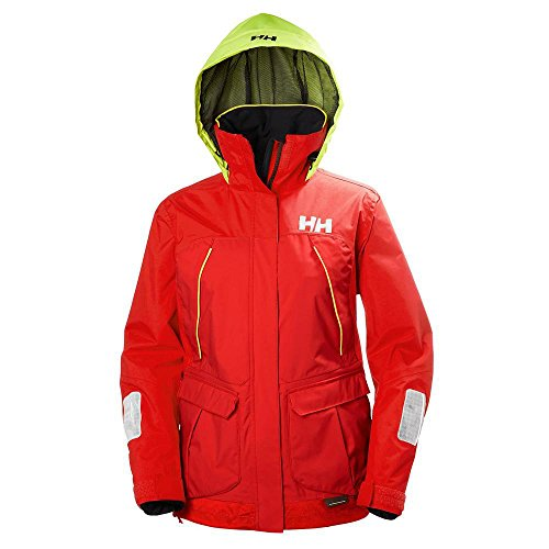 Helly Hansen Womens Sailing Pier Mesh Lined Performance Rain Jacket, Alert Red, Large