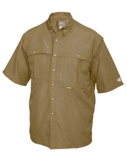 Drake Vented Wingshooter's Short Sleeve Casual Shirt (Small, Khaki)