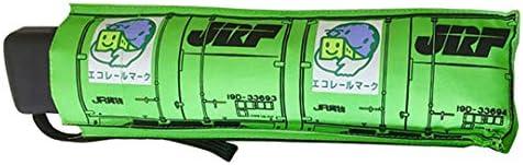 ポポンデッタ 折りたたみデザイン傘 19D形式 コンテナ:緑