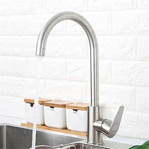 304ステンレス鋼シングルハンドル単一穴キッチン蛇口ミキサーシンクタップキッチン蛇口現代の熱く、冷水