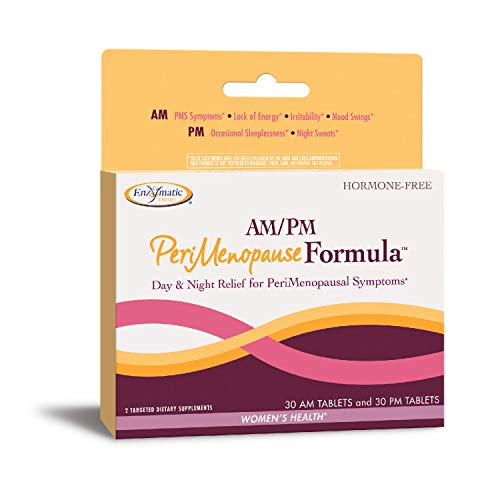 (Nature's Way AM/PM PeriMenopause Formula Hormone-Free Day & Night Relief, 30AM & 30PM Tablets (Packaging May Vary) )