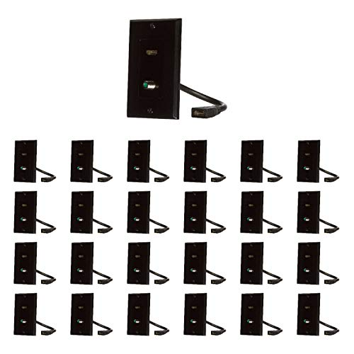 Buyer's Point HDMI Pigtail 3GHz Coax Wall Plate (25, Black Kit)
