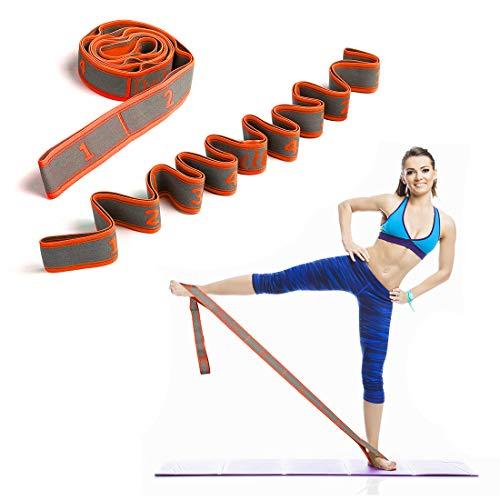 DeHub Bandas Elasticas Fitness Banda El/ástica de Resistencia para Pilates,Yoga,Fitness,Gimnasia,Crossfit y Danza. Banda de Estiramiento para Ni/Ñ s y Adultos