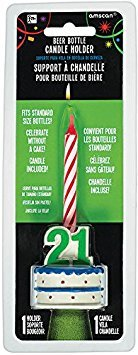 21st Brilliant Birthday Beer Bottle Candle (21st Birthday Beer)