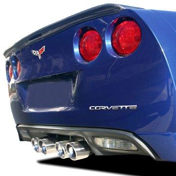 Chrome EDI Corvette C6 Rear Bumper Letters Insert