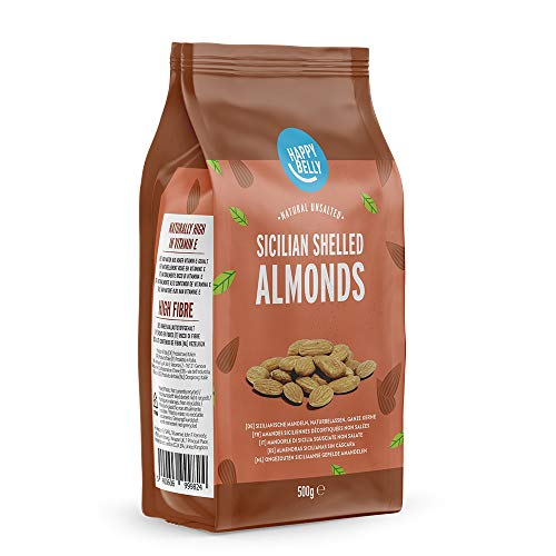 Marca Amazon Happy Belly Almendras Sicilianas Sin Cascara 4x500g