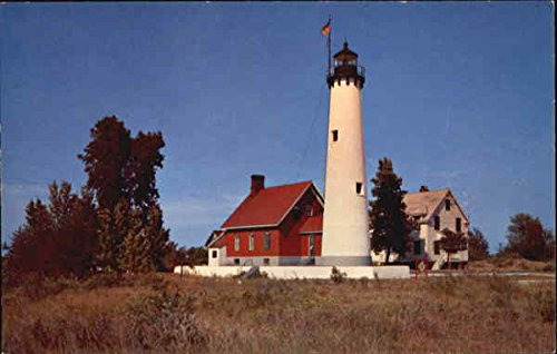 Tawas Point Lighthouse Tawas Point, Wisconsin Original Vintage Postcard ()