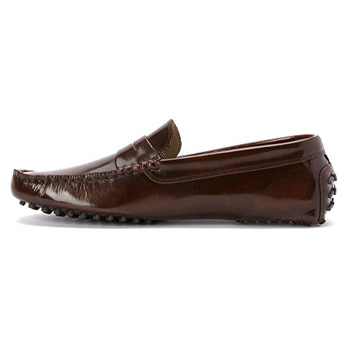 4fde4d6563a99 Lacoste Concours 15 SRM Driver Moccasin Loafer Fashion Shoe - Dark Brown -  Mens - 11