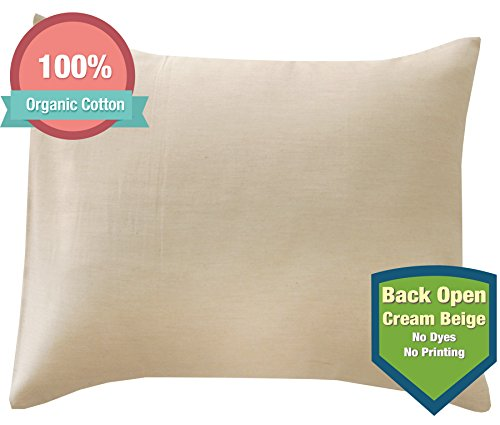 JOHN N TREE Organic Toddler PillowCase (Cream Beige)(13