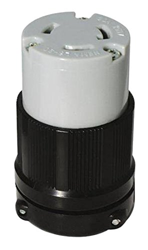 OCSParts L6-30R Grounding Locking Connector, 30A 125V AC, 2 Pole 3 Wire, cUL Listed, NEMA L6-30