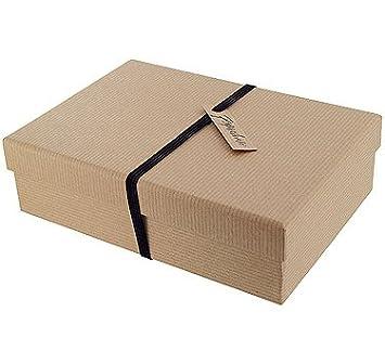 Paperchase Medium Gift Box. Kraft Ribbed Design: Amazon.co.uk: Office Products