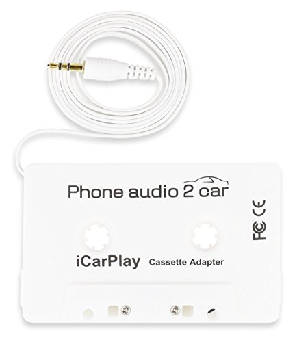 DigitNow Car Cassette Adapter Audio Tape, Listen To Your iPod Or Other Audio Device Through Your Car's Cassette Player, With a 3.5mm Headphone Jack (Ipod Cassette Connector)