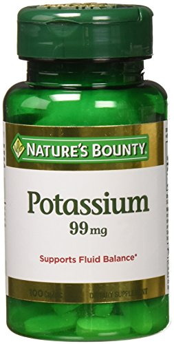 Nature's Bounty Potassium Gluconate 300 Caplets (3 X 100 Count Bottles)